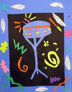 Drawing with scissors Matisse style by Diego, grade 2 (Donna Staten)