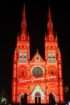 Saint Mary's Cathedral Christmas Lights