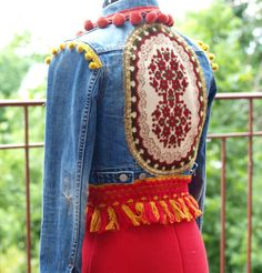 170 € Custom Vintage upcycled bohemian denim jeans by TheLookFactory