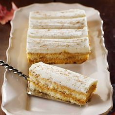 Pumpkin Tiramisu. This adults-only way to enjoy pumpkin features layers of bourbon- and maple-soaked ladyfingers, canned pumpkin spiced with ginger and cinnamon, and whipped mascarpone cheese.