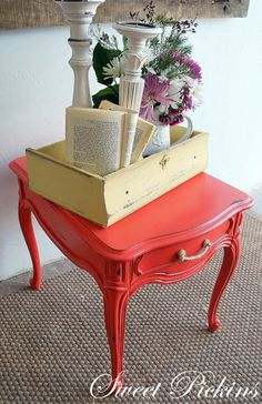 a cute little nightstand!  next restoration project?? :)