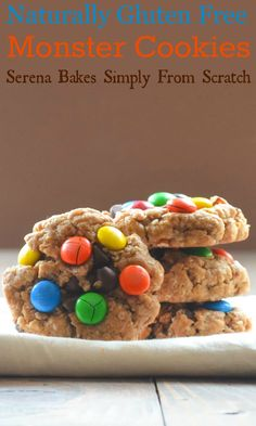 Naturally Gluten Free Monster Cookies   www.serenabakessimplyfromscratch.com