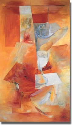 The Elements of the Holy Communion    Jacques Iselin (1933— )    Oil, 1963