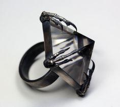 the mini crystal tomb ring by BloodMilk on Etsy | macabre | high fashion | goth | editorial | dark fashion | high end jewelry