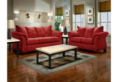 Lacks | Sensations Red 2-Pc Living Room Set
