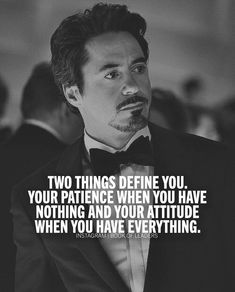 I'm not totally sure if this is an rdj quote or an iron man/tony stark quote but in all honesty what's the difference Boss Quotes, Attitude Quotes, True Quotes, Motivational Quotes, Inspirational Quotes, Quotes For Men, Sucess Quotes, Marvel Quotes, Joker Quotes