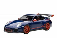 F/S AUTOart PORSCHE 911(997) GT3 RS 3.8 AQUA BLUE/RED 78144 1/18 Scale Model Car…