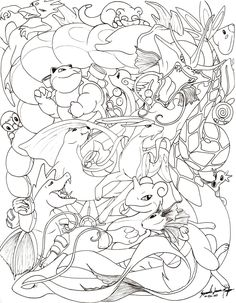 Okay, I am the one who is insane, but allow me first to list off all the pokemon in this drawing (in no particul. Water Pokemon -line- Pyssla Pokemon, Pokemon Craft, Pokemon Eevee, Eevee Evolutions, Coloring Book Pages, Printable Coloring Pages, Pokemon Coloring Sheets, Coloring Pages For Kids, Kids Colouring