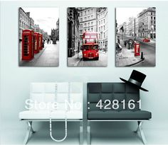 3 Piece Free Shipping Hot Sell Modern Wall Painting London  Landscape Home Decorative Art Picture Paint on Canvas Prints 851,93 руб.
