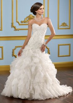 Blu by Mori Lee 4914 Mermaid Wedding Dress