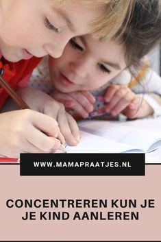 #Concentreren kun je je #kind aanleren  #opvoeding #ontwikkeling #school Our Baby, School, Baby Kids, Children, Blog, Young Children, Kids, Schools, Children's Comics