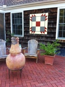 """""""Porch Quilt"""" - I've seen Barn Quilts, but I don't have a barn! However, I DO have a porch! =)"""