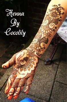 Photo: mehndi maharani finalist: Henna By Cocolily - Maharani Weddings Henna Tatoos, Henna Ink, Mehndi Tattoo, Henna Tattoo Designs, Tattoo Ideas, Tattoos, Henna Palm, Arabic Henna, Henna Mehndi