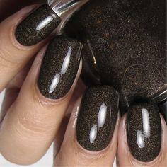 Blue Gold Nails, Grey Matte Nails, Oval Nails, Neutral Nails, Black Sparkle Nails, Chrome Nail Polish, Nail Polish Art, Glitter Nail Polish, Chrome Nails