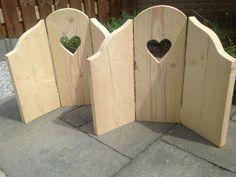 3-luik met hart van steigerhout