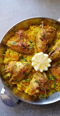 Chicken Curry, Paella, Easy Mediterranean Diet Recipes, Egyptian Food, How To Cook Rice, Food Goals, Yum Yum Chicken, International Recipes, Healthy Dinner Recipes