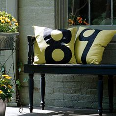 House Number Pillows - I need this!