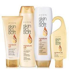 Skin So Soft Signature Silk 4-Piece Bath Set