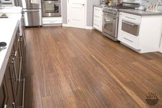 Snap Together Vinyl Flooring In Antique Java From Cali Bamboo Is Easy To Install And Sim