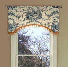 Toile Valances | Petite Ferme Blue Toile Rooster Valance   Curtains |  Window Valances .
