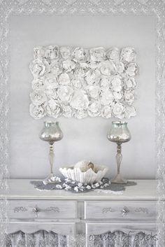 ozma of odds: ...romantic plaster rose sculpture
