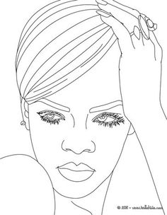 rihanna coloring page more singer coloring pages on hellokidscom