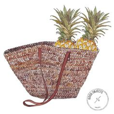 Good objects - pineapple obsession… #goodobjects Watercolor illustration