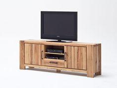 Szafka RTV z drewna dębowego Solid