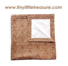 Unisex Baby Blanket $39.95. Leopard print (flanellette) with super soft and snuggly cream micro fleece lining. 90cm x 90cm. You can purchase this product from www.tinylittletreasure.com