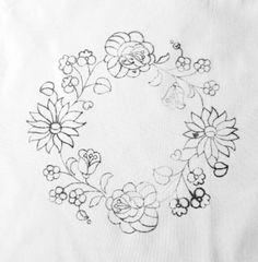 カロチャ刺繍図案:直径30 バッグサイズ:43×37 持ち手の長さ:35