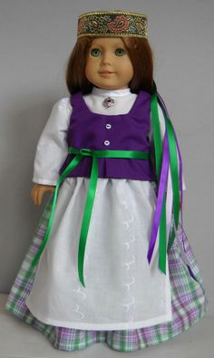 "Fits 18"" American Girl doll Lithuania Lithuanian dress clothes M (COSTUME ONLY)"