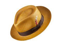 The Blair in Cognac Wide Brim Fedora Mens, Mens Straw Hats, Hats For Men, Straw Fedora, Mens Dress Hats, Gentleman Style, Gentleman Fashion, Man Gear, Casual Slip On Shoes