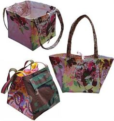 Cube bag, very handy!  http://quiltwoman.com/The-Cube-Purse-Pattern.aspx