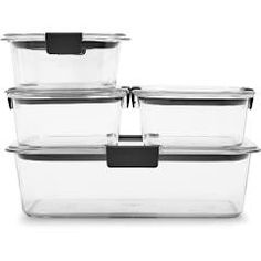 Rubbermaid Brilliance Food Storage Container Set 22 Piece Clear Rubbermaid Takealongs Food Storage Container Large Rectangles 1