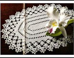Vintage 1910 Oval Doily Crochet Pattern - PDF Instant Download