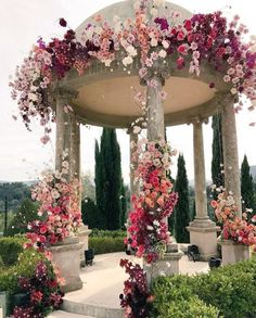 The ceremony is the most thrilling aspects of the celebration. You need the perfect wedding decor! We collected wedding ceremony decorations. Perfect Wedding, Dream Wedding, Wedding Day, Wedding Gazebo, Gazebo Wedding Decorations, Spring Wedding, Garden Wedding, Wedding Blog, Wedding Reception