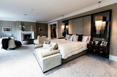 Upholstered Wall Bedroom Design Ideas, Pictures, Remodel and Decor