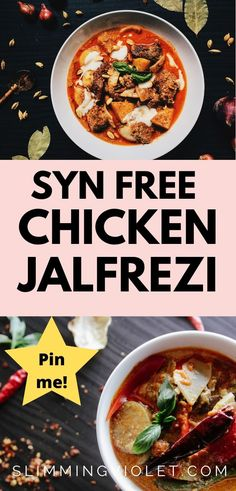Looking for inspiration for your next Indian fakeaway night? Try this Syn free chicken jalfrezi curry recipe! Slimming World Chicken Recipes, Chicken Lunch Recipes, Indian Food Recipes, New Recipes, Favorite Recipes, Slimming World Curry, Sandwich Fillers, Syn Free