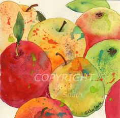 Delicious Apples, painting by artist Kay Smith