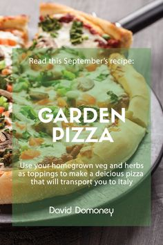 You can't go wrong with a pizza night, whether as an activity with the kids, or a relaxing evening at home. Making it yourself is part of the fun, and you can add toppings galore to make your perfect pizza. Garden Pizza, Herbaceous Border, Perfect Pizza, Good Food, Yummy Food, Mediterranean Garden, Small Garden Design, Outdoor Gardens, Herbs