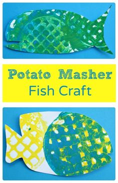 Potato Masher Fish Craft and Art for Toddlers and Preschoolers