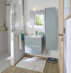 How to arrange a shower in a small bathroom? - Ikea DIY - The best IKEA hacks all in one place White Vanity Bathroom, Beautiful Bathroom Designs, Ikea Diy, Diy Bathroom Decor, Ikea Decor, Bathrooms Remodel, Farmhouse Master Bathroom, Home Decor, Bathroom Furniture Vanity