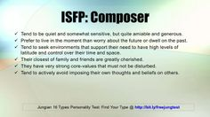 ISFP: Composer -- Jung 16 Personality Types Test Results