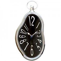 Horloge fondue noire