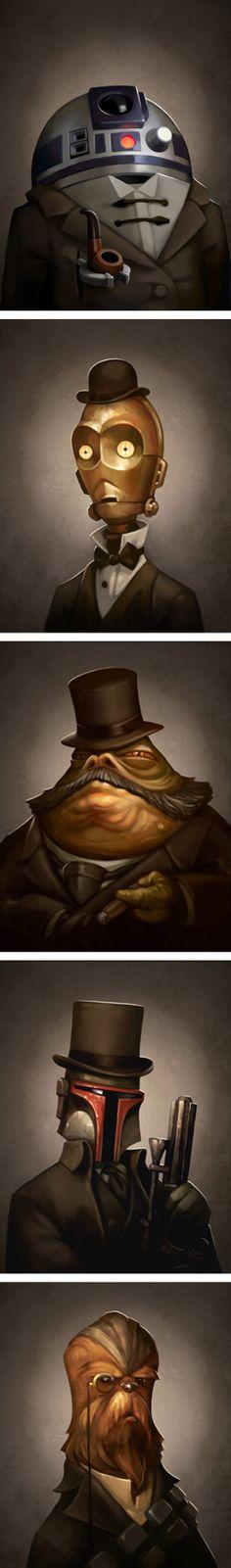 Victorian Star Wars Portraits by Greg Peltz