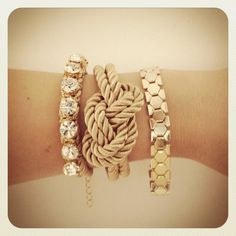 Arm candy set - 24k gold plated on Etsy, $71.50