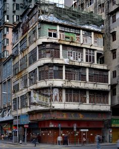 The life and times of hand painted advertising from around the world. China Hong Kong, Bauhaus, Urban Landscape, Landscape Photos, Street Art, Art Deco, Kowloon Walled City, Slums, Corner House