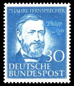 Philip Reis auf Briefmarke von 1952