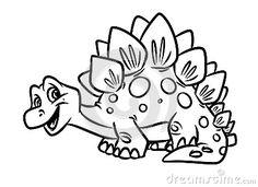 Stegosaurus Funny Dinosaur Jurassic Period Coloring Pages Image Animal Character