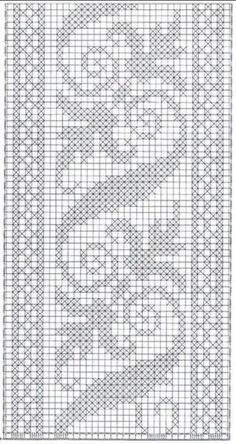 Trendy crochet paso a paso puntos ideas Cross Stitch Bookmarks, Cross Stitch Borders, Cross Stitch Flowers, Cross Stitching, Cross Stitch Embroidery, Cross Stitch Patterns, Knitting Patterns, Crochet Patterns, Filet Crochet Charts
